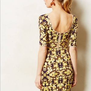 Anthropologie Yellow Floral Dress